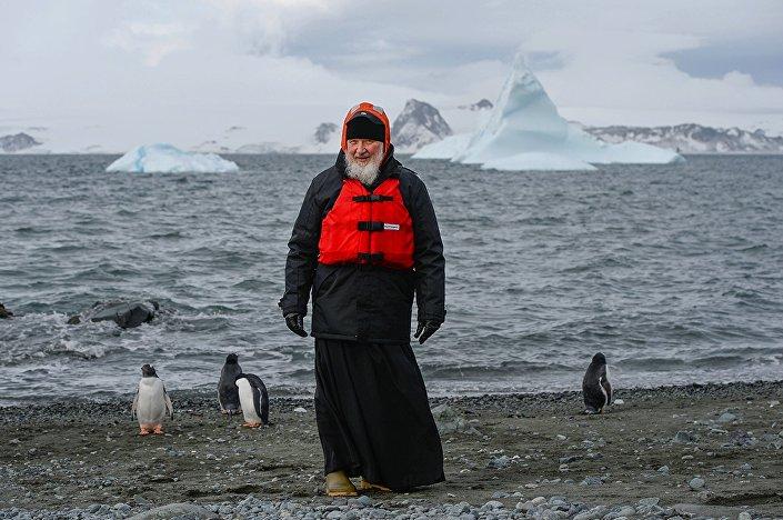 Patriarcha Moskwy i Wszechrusi Cyryl odwiedził Antarktydę