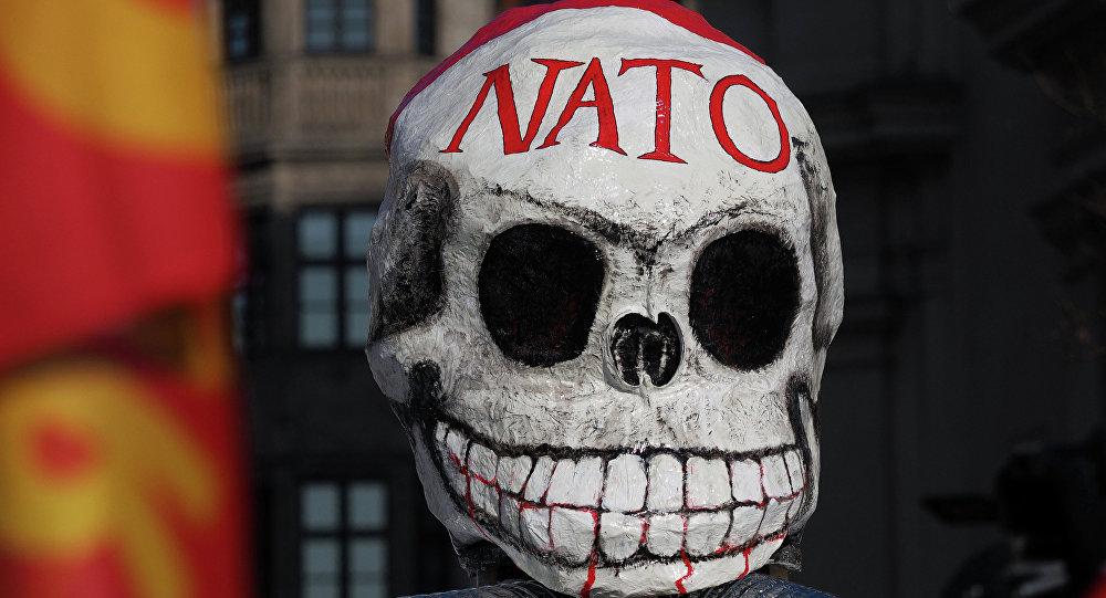 Antynatowska maska z protestów w Monachium