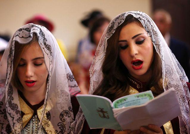 Chrześcijanie ormiańscy, połnocny Irak, 5 kwietnia 2015