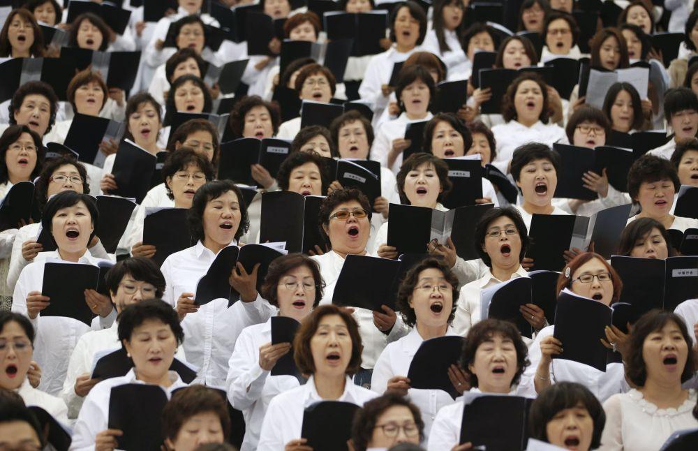 Msza Wigilii Paschalnej w Seule