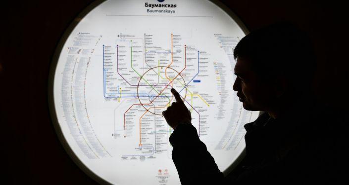 Schemat moskiewskiego metra