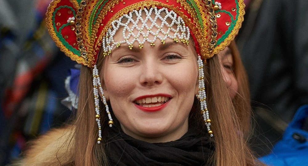 Rosjanka na meczu Rosja-Norwegia futbolu amerykańskiego