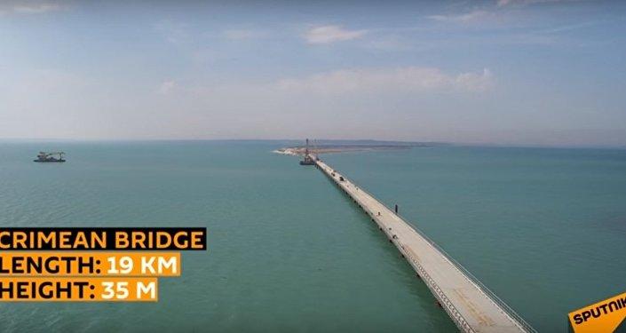 Trwa budowa mostu w Kerczu