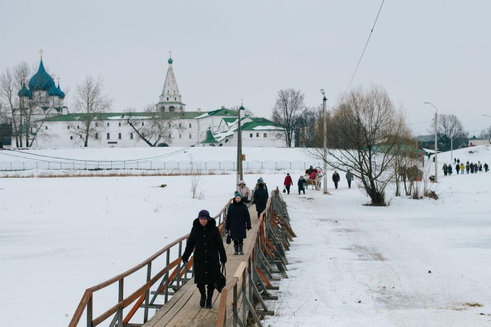 Most przez rzekę Kamienka w Suzdalu