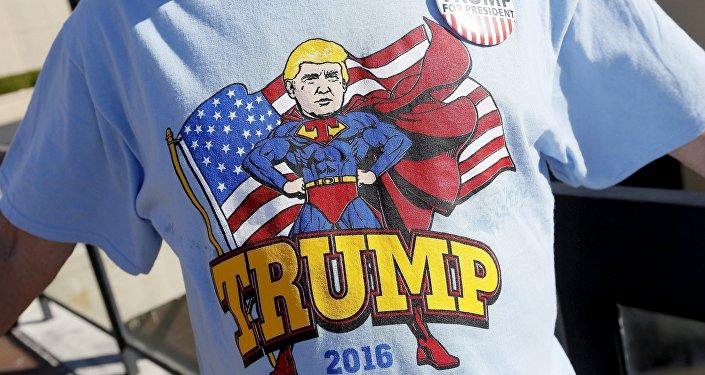 Koszulka z kandydatem na prezydenta USA Donaldem Trumpem