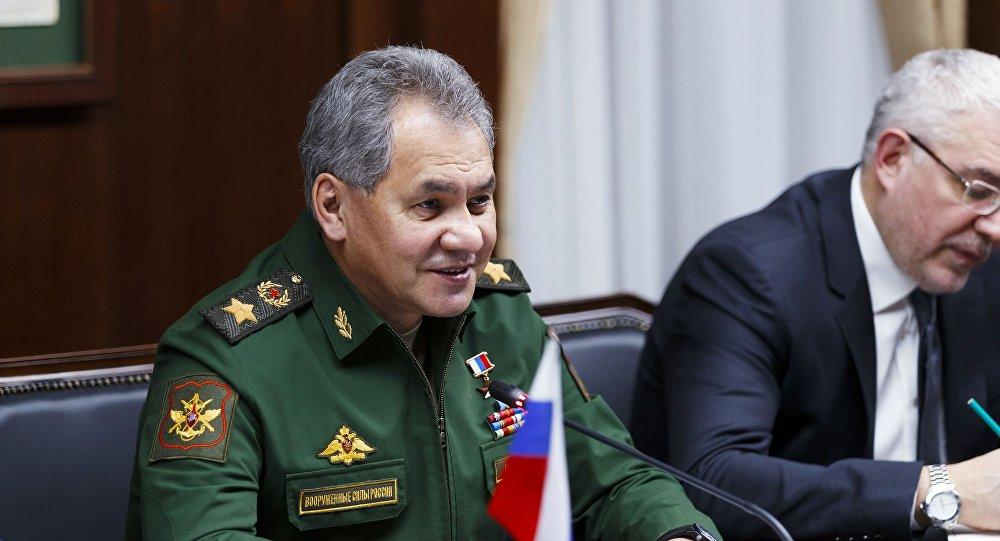 Spotkanie ministra obrony Rosji Siergieja Szojgu z irańskim ministrem obrony Hosseinem Dehghanem