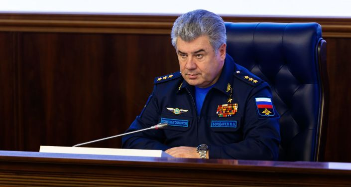 Główny dowódca Sił Powietrzno-Kosmicznych generał-pułkownik Wiktor Bondarew