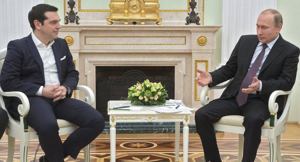Russian President Vladimir Putin's meeting with Greek Prime Minister Alexis Tsipras