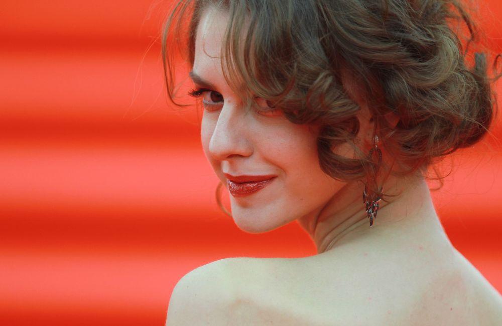 Aktorka Lianka Gryu podczas ceremonii otwarcia 37-go Moskiewskiego festiwalu filmowego