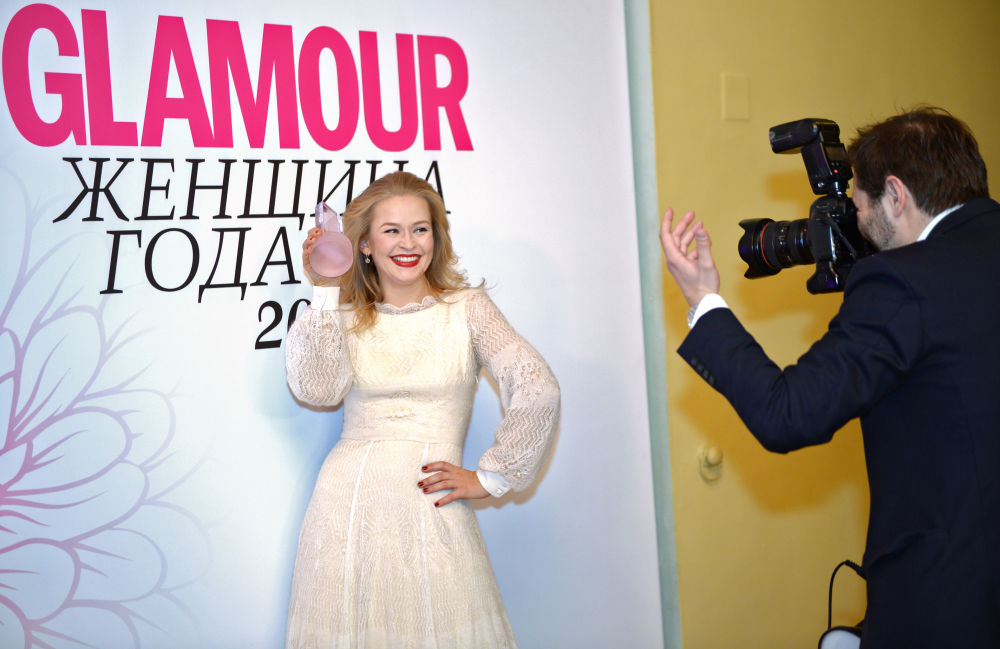 Aktorka Julija Persild podczas premii Kobieta roku 2015