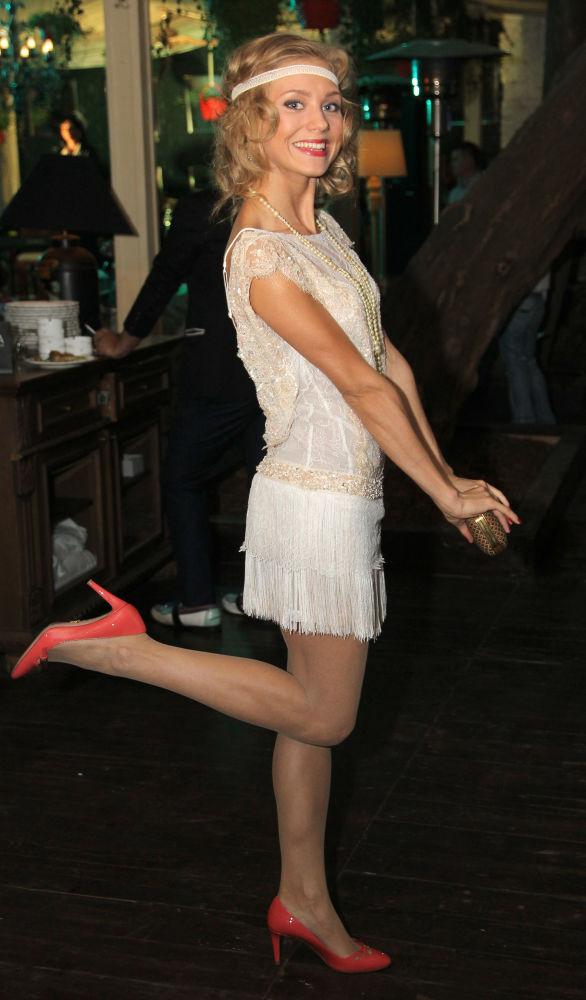 Aktorka Kristina Asmus na imprezie czasopisma HELLO! w Moskwie