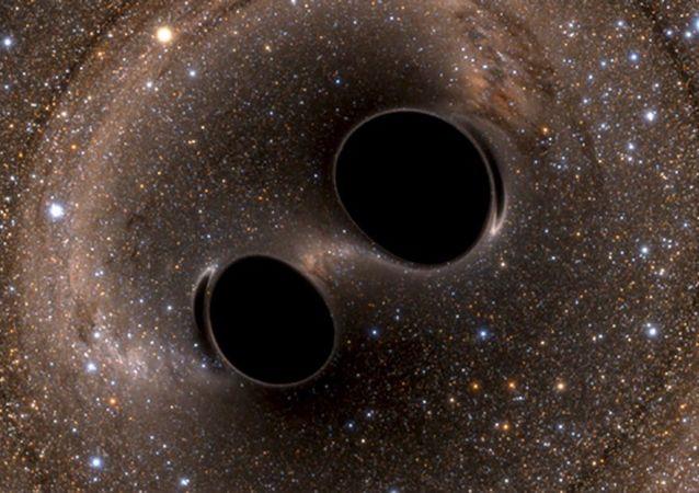 Grawitacyjne fale generowane przez dwie czarne dziury