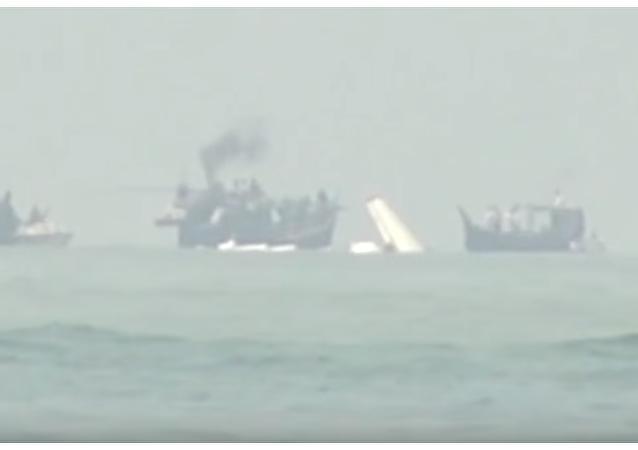 Opublikowano wideo z miejsca katastrofy An-26 w Bangladeszu