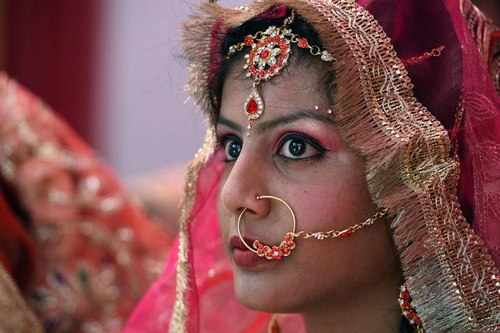 Pani młoda podczas ślubu w Nowym Delhi