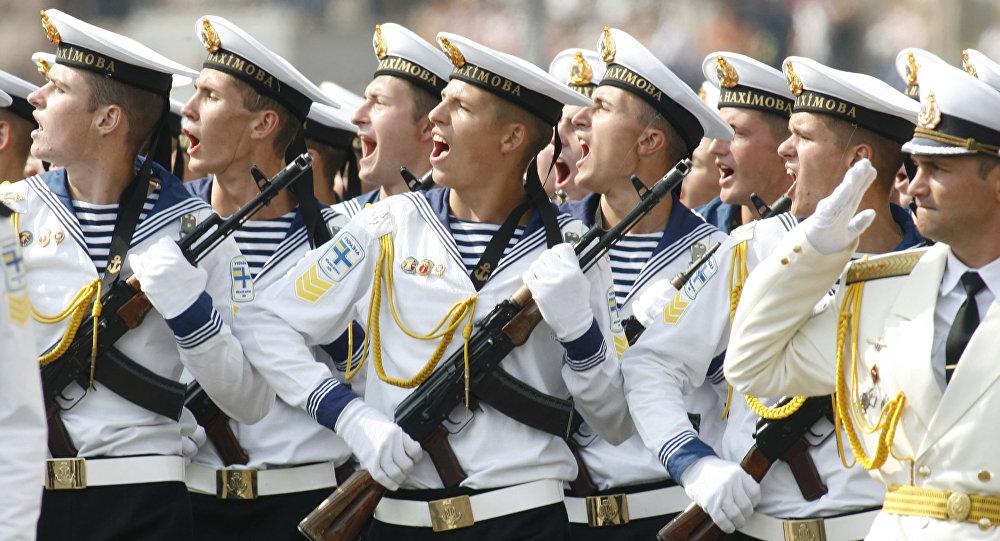 Ukraińscy marynarze w Dzień Niepodległości Ukrainy