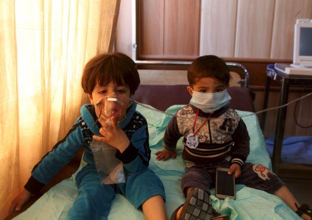Ofiary ataku chemicznego w syryjskim mieście Taza