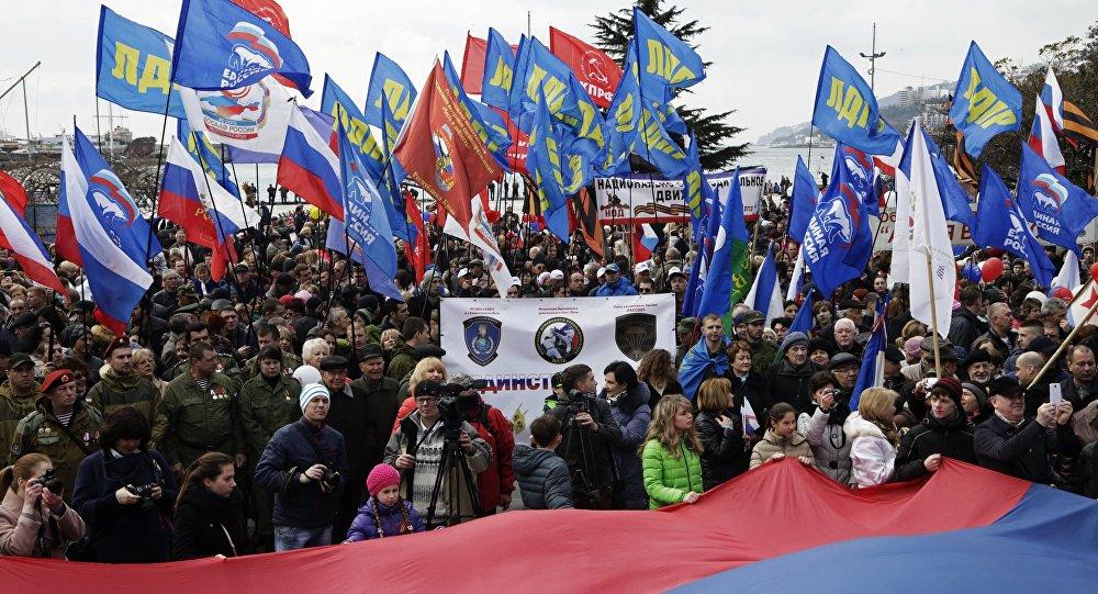 Obchody Dnia Zjednoczenia Krymu z Rosją w Moskwie