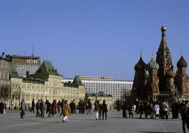 Widok na Plac Czerwony, Dom Handlowy GUM i Sobór Wasyla Błogosławionego