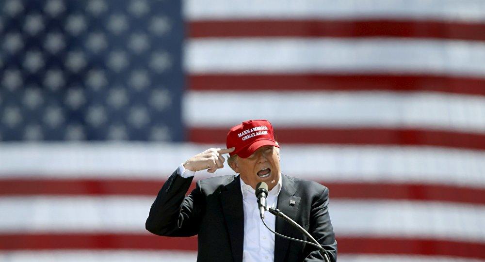 Republikański kandydat na prezydenta USA Donald Trump