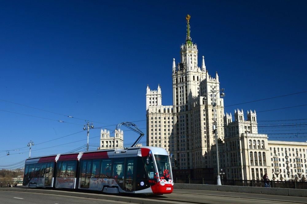 Parada tramwajów w Moskwie