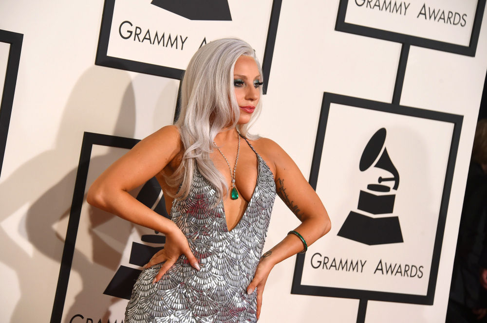 Amerykańska piosenkarka Lady Gaga w Los Angeles, 8 lutego 2015