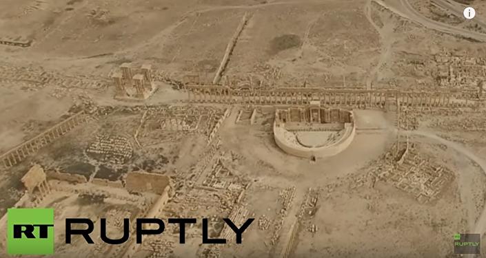 Wyzwolenie Palmyry z lotu ptaka