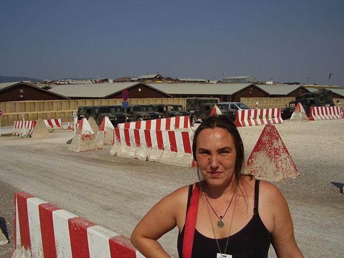 Korespondent Sputnika Brankica Ristic w amerykańskiej bazie Bondsteel w Kosowie
