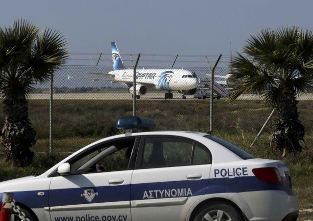 Porwany samolot Egypt Air w Larnace