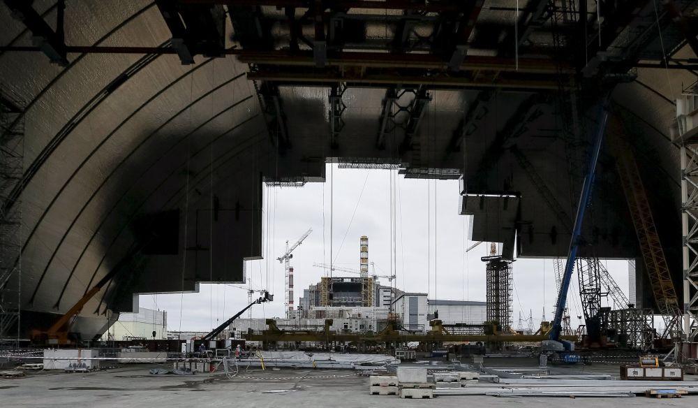 Widok na Czarnobylską Elektrownią Jądrową