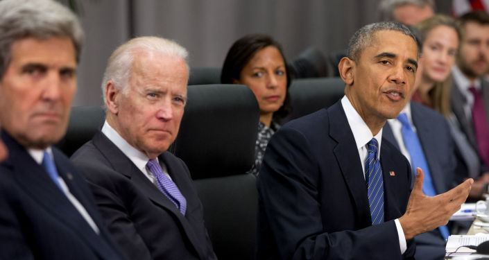 John Kerry, Joe Biden i Barack Obama na szczycie bezpieczeństwa nuklearnego w Waszyngtonie