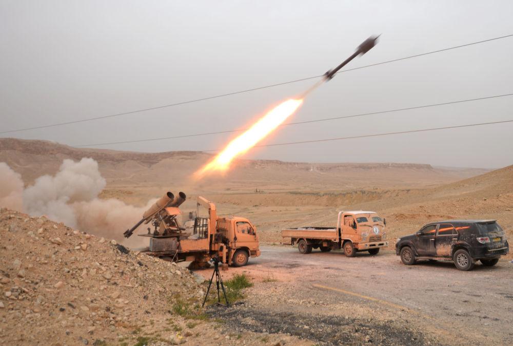 Wojsko syryjskie i narodowy ruch oporu w rejonie Palmiry