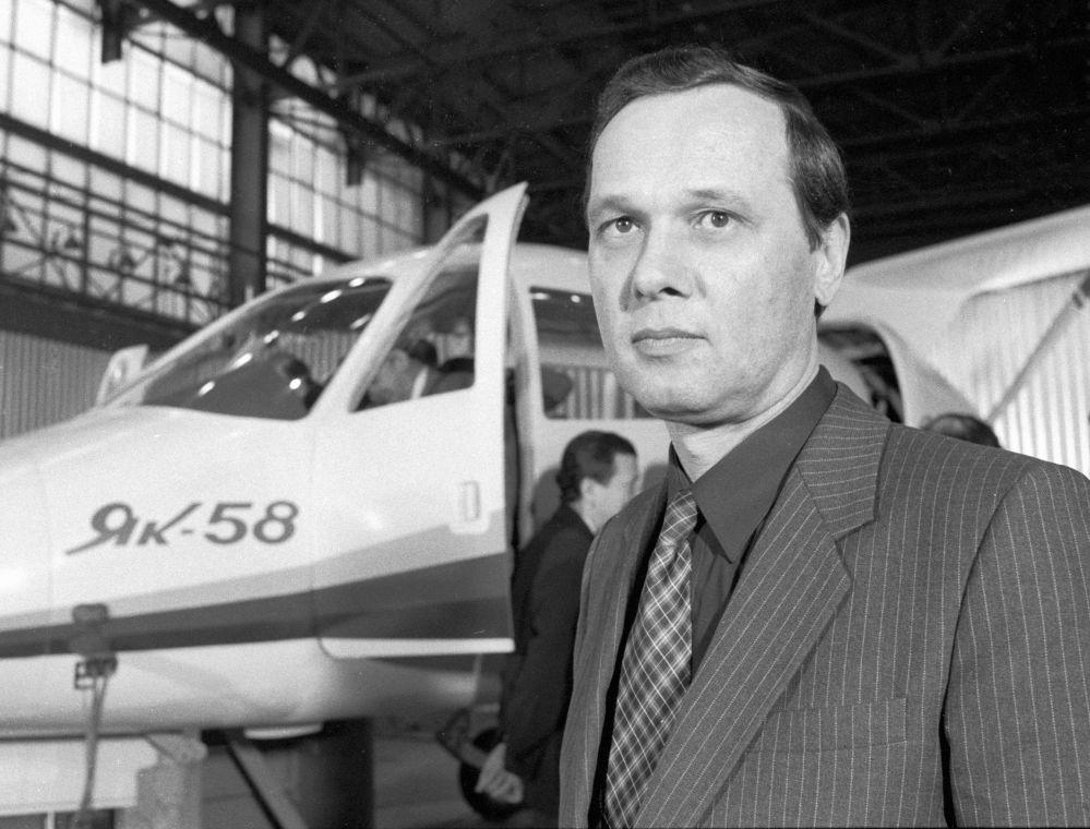 Główny konstruktor samolotu Jak-58 Sergiej Jakowlew