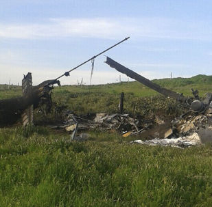 Helikopter azerbejdżańskich sił powietrznych w Górskim Karabachu