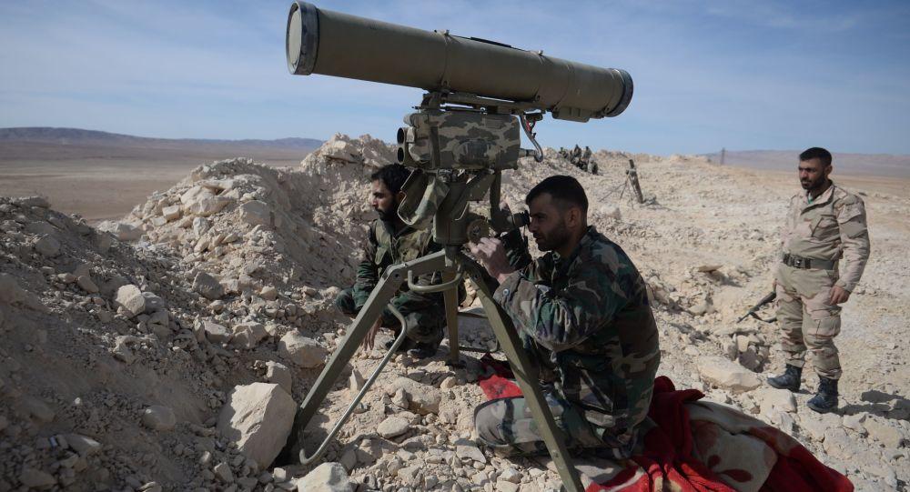 Żołnierze syryjskiej armii podczas ofensywy