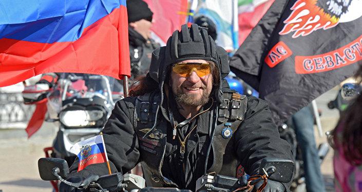 """Lider klubu motocyklistów """"Nocne wilki Aleksander Załdostanow"""