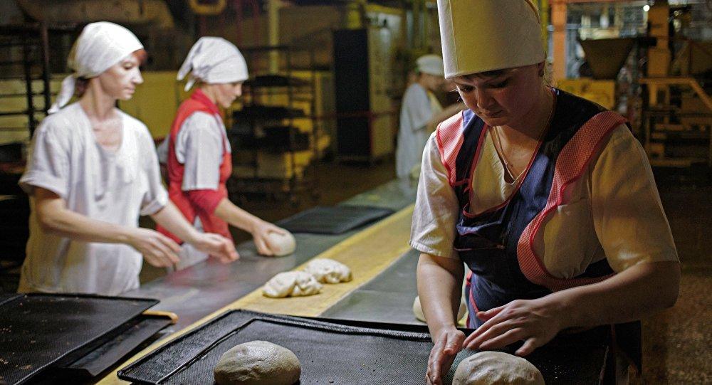 Zakład produkcji pieczywa na Ukrainie