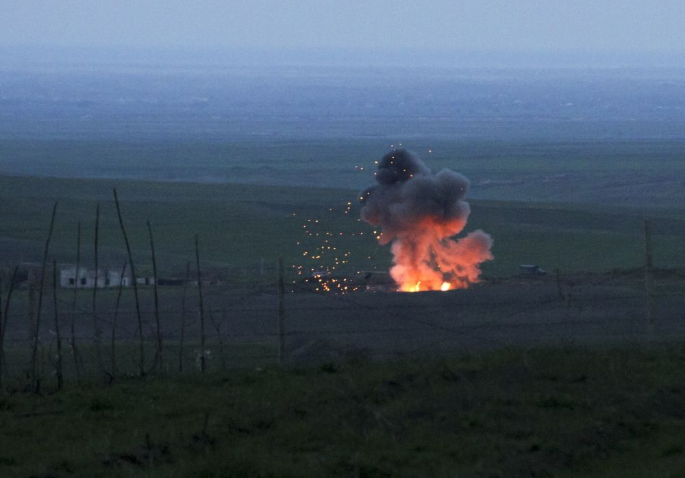 Zestrzelony azerbejdżański samolot bezpilotowy