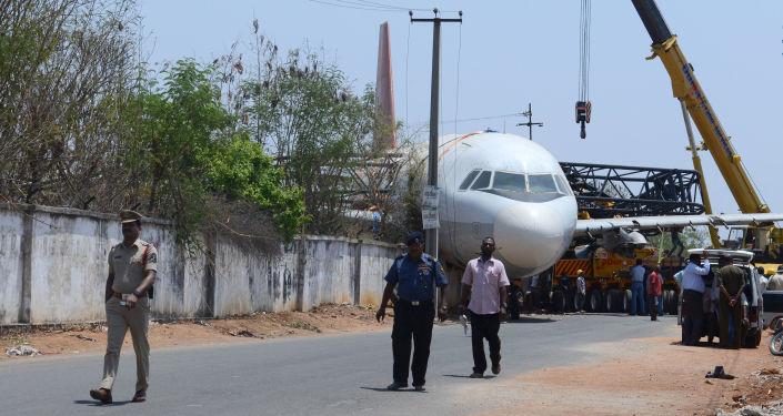 Incydent na lotnisku Begumpet w stanie Telangana w południowo-wschodnich Indiach