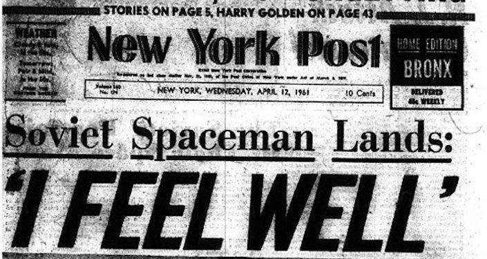 New York Post od 12 kwietnia 1961: Czuje się dobrze