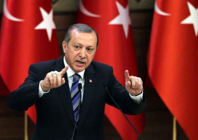 Prezydent Turcji Recep Tayyip Erdogan w Ankarze