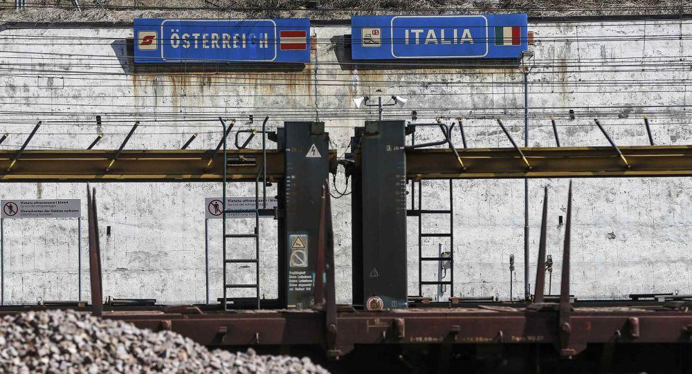 Znak na granicy austriacko-włoskiej