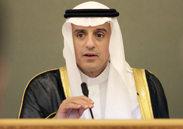 Minister spraw zagranicznych Arabii Saudyjskiej Adel al-Jubeir w czasie wystąpienia