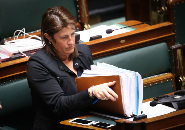 Minister transportu Belgii Jacqueline Galant