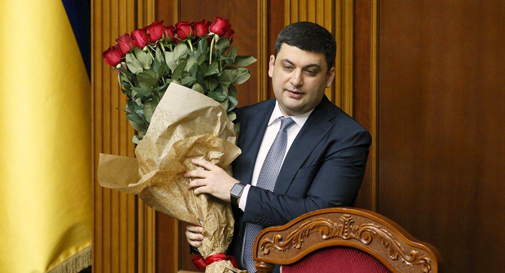 Szef ukraińskiego rządu Wołodymyr Hrojsman