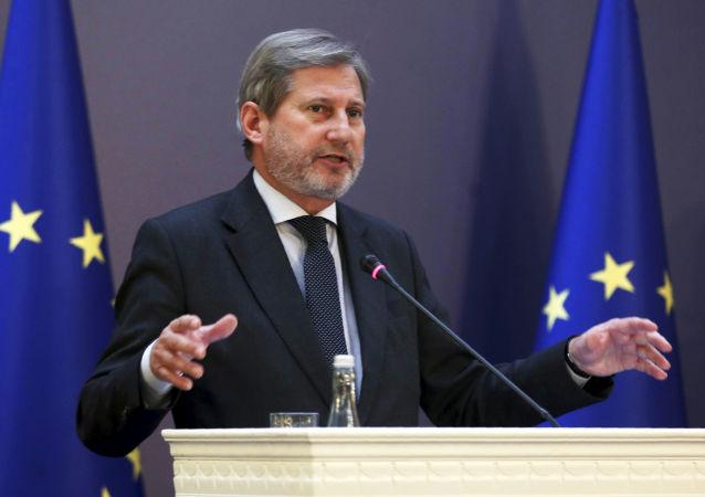 Komisarz UE ds. polityki sąsiedztwa i negocjacji dotyczących rozszerzenia Johannes Hahn