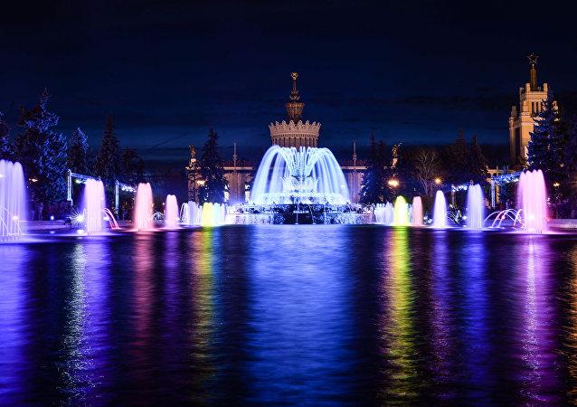 Sezon fontann w Moskwie