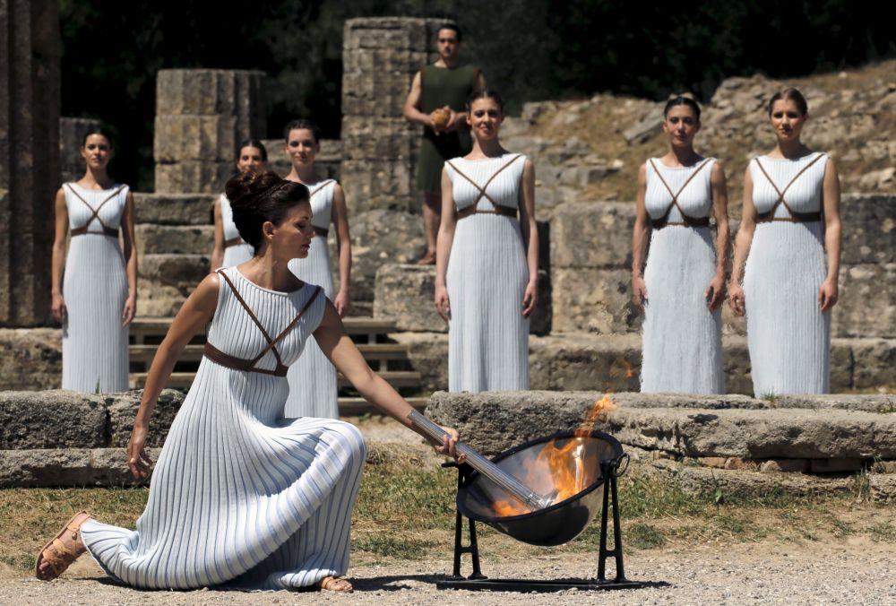 Ceremonia zapalenia znicza olimpijskiego