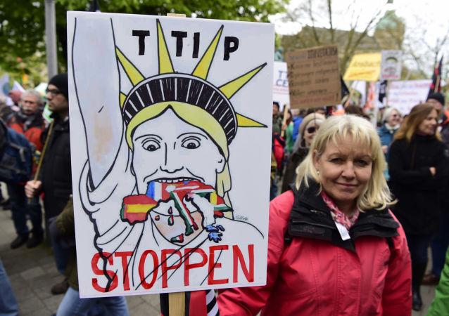 Protest przeciw TTIP w Hanowerze
