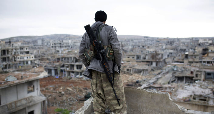 Kurdyjski snajper w Syrii