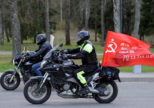 Motocykliści z klubu Nocne Wilki
